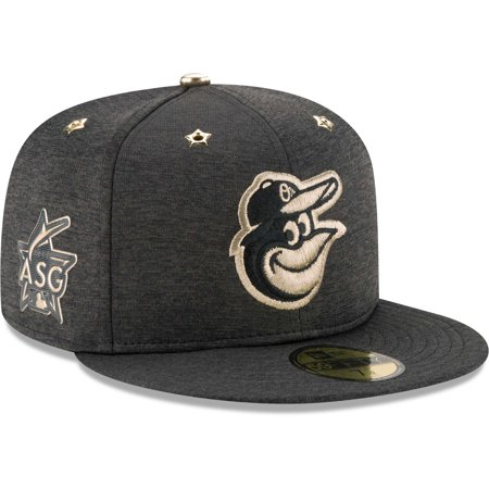 Baltimore Orioles New Era 2017 MLB All-Star Game Side Patch 59FIFTY Fitted Hat - Heathered Black (Fitted Hats With Patch)