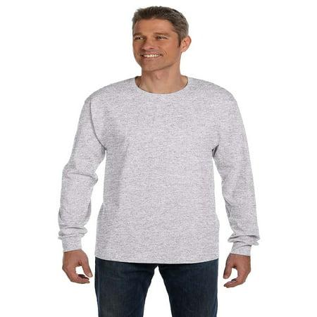 6f5d27892852 Hanes - Hanes Men's TAGLESS® Long-Sleeve T-Shirt with Pocket, Style  5596 - Walmart.com