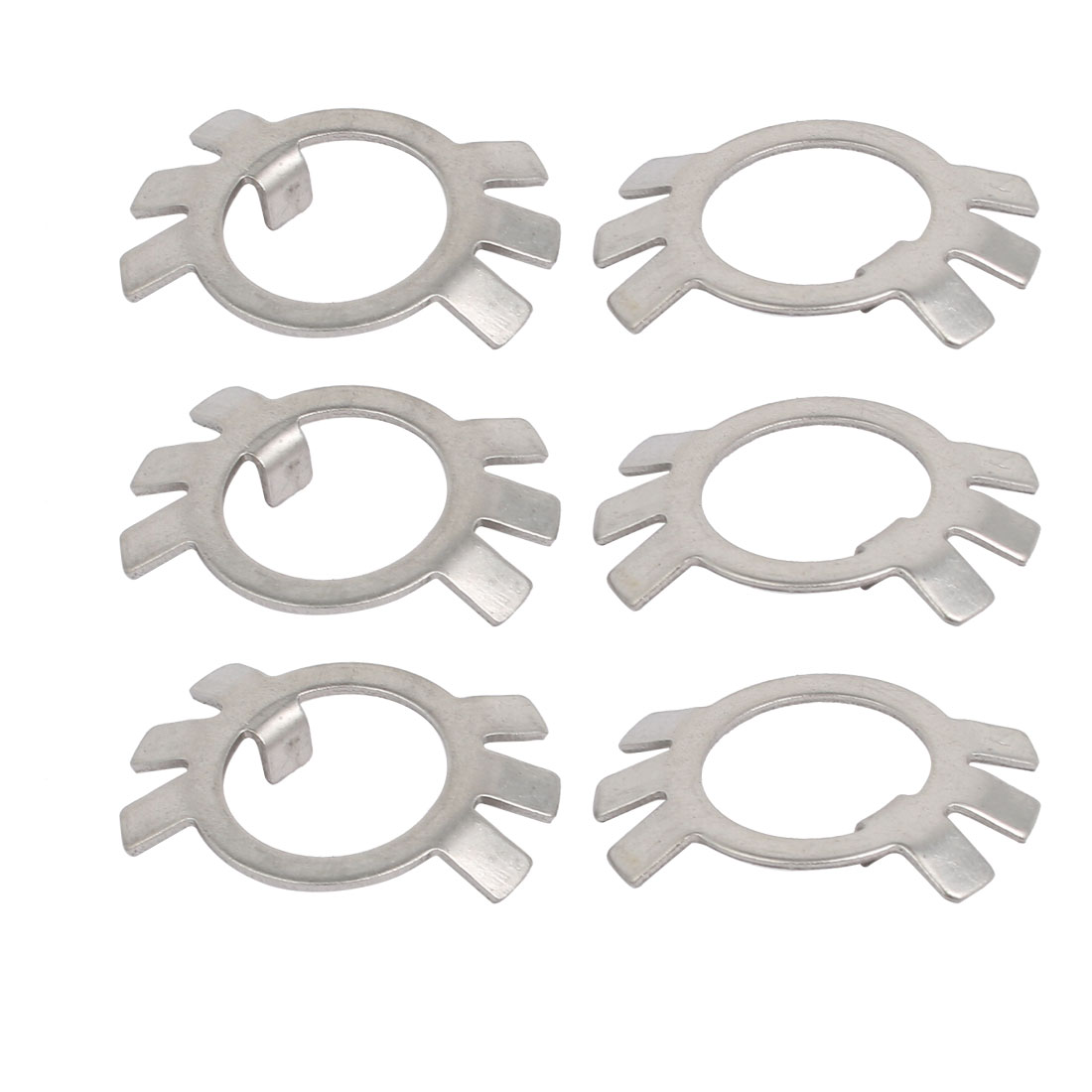 50pcs M16 Carbon Steel External Lock Tab Spindle Washer for Round Slotted Nut