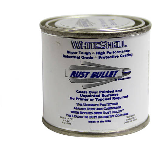 Rust Bullet WhiteShell, Rust Preventative and Protective Coating, 1/4 Pint