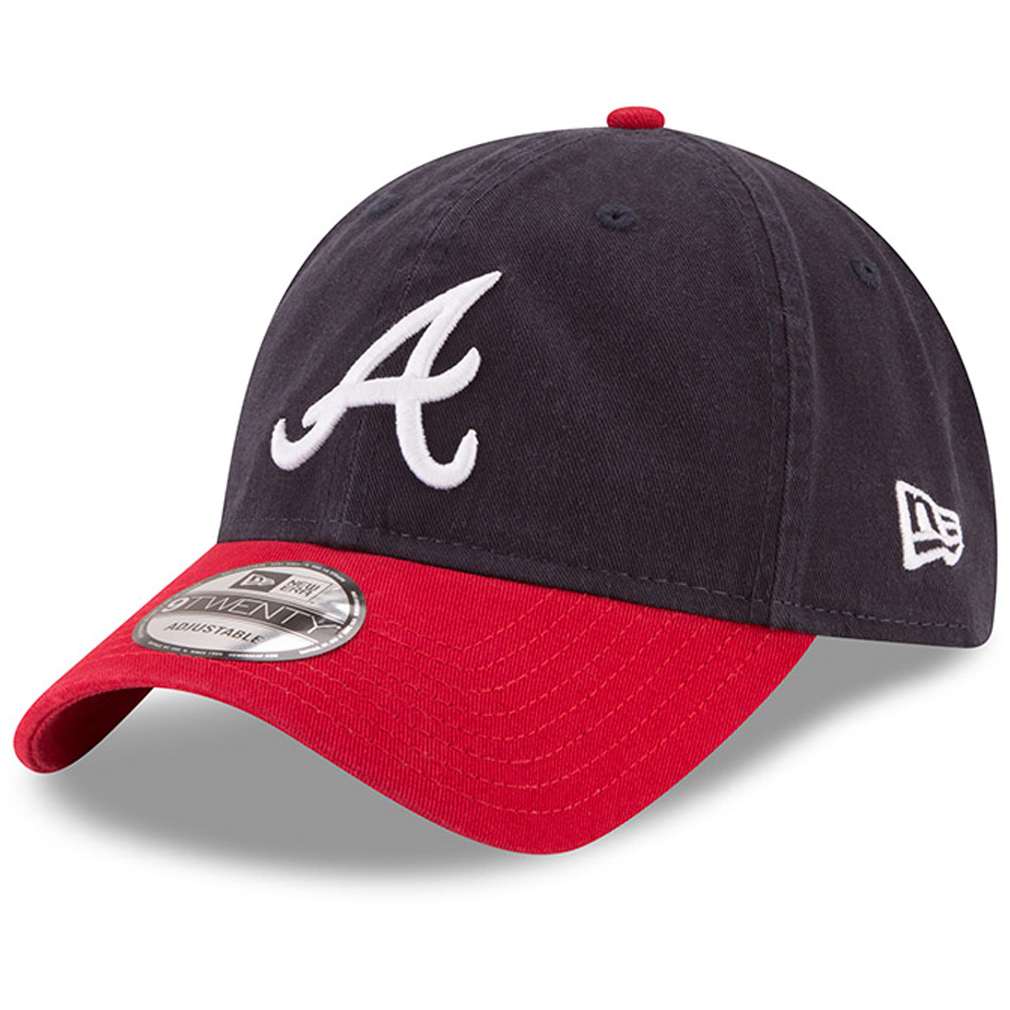 Atlanta Braves New Era Home Replica Core Classic 9TWENTY Adjustable Hat - Navy/Red - OSFA