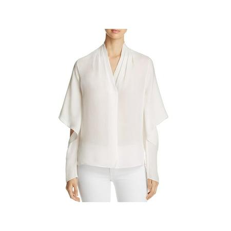 Ivory Silk Blouse - Kobi Halperin Womens Edyn Silk Split Sleeves Blouse Ivory S