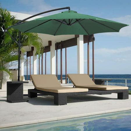 10 Ft Patio Umbrella Outdoor Sun Shade Offset Hanging Green Market
