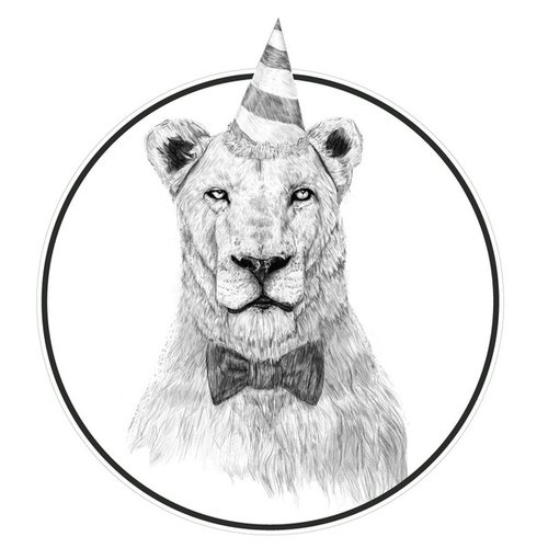 My Wonderful Walls Get the Party Started Lion Wall Decal