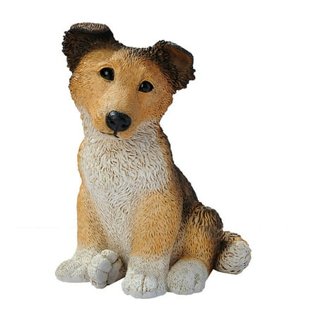Brown Collie Puppy Dog Statue