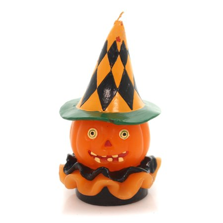 Halloween RUFFLED JACK O LANTERN CANDLE Wax Heaventree - Halloween Jack O Lanterns History