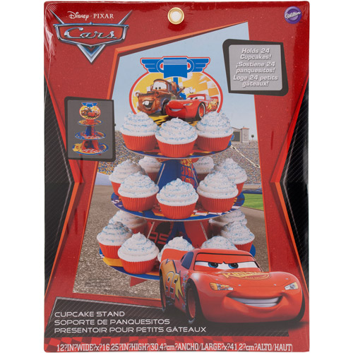 Wilton 3-Tier Treat Stand, Cars 24 ct. 1512-6405