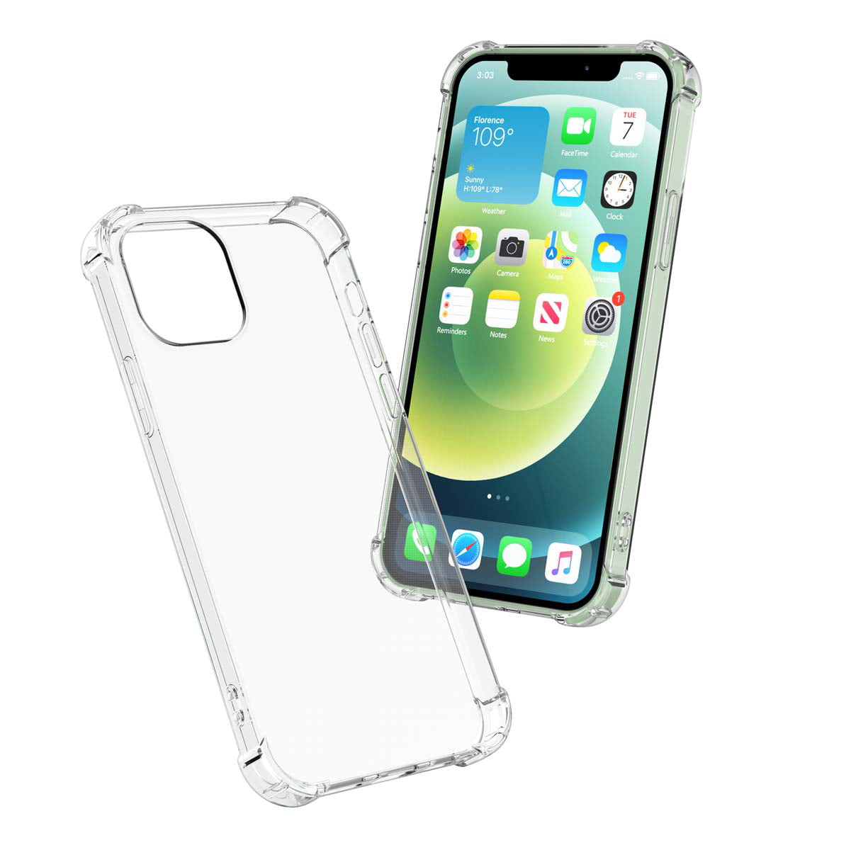 Njjex iPhone 12 Pro Max \/ iPhone 12 \/ iPhone 12 Mini Case, iPhone 12 Pro Crystal Clear Shock