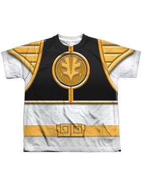 Power Rangers - White Ranger - Youth Short Sleeve Shirt - Large