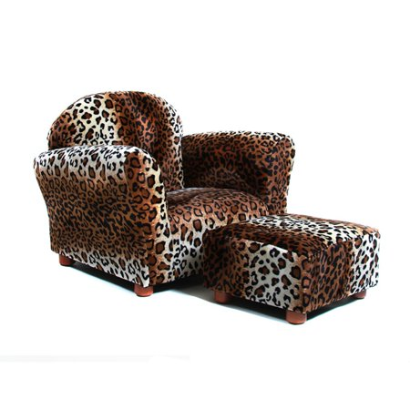 KEET Roundy Kids Chair Leopard with Ottoman