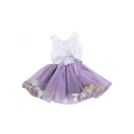 Ropalia Cute Toddler Baby Kids Girl Dress Princess Dress Party Tulle Lace Fancy Flower Tutu Dress 0-4Y (Halloween School Girl Fancy Dress)