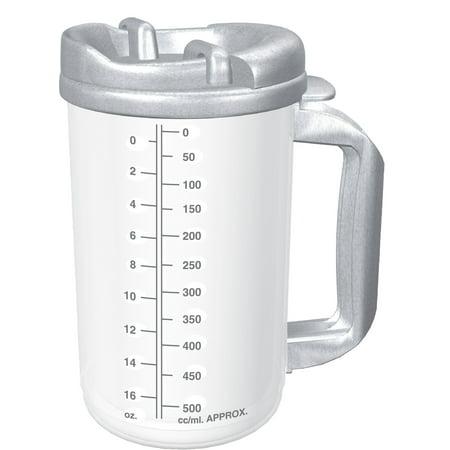 Drinking Mug, 20 oz. Clear Cup / Granite Lid Plastic Reusable, TM-20 - EACH