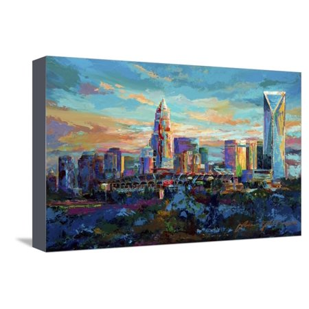 The Queen City Charlotte North Carolina Stretched Canvas Print Wall Art By Jace D. McTier