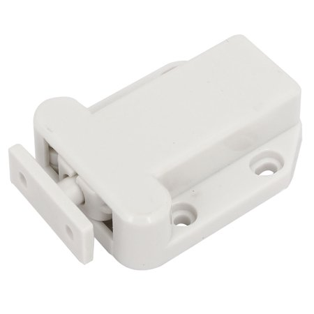 Unique BargainsCabinet Drawer Plastic Non-Magnetic Push To Open Touch Catch Latch White