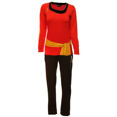 Star Trek Red Uhura Ladies Long Sleeve Costume Pajama Set](Uhura Costume)
