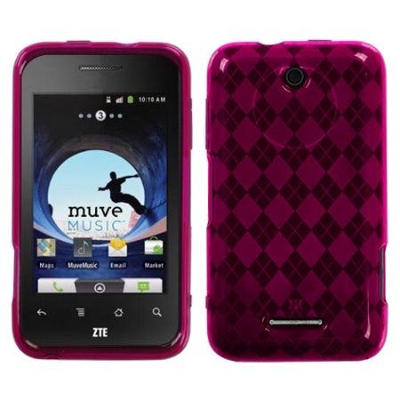 For X500 Score Hot Pink Argyle Silicone Candy Skin Protector Cover Case ()