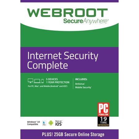 Webroot Complete Protection Software  Windows Mac