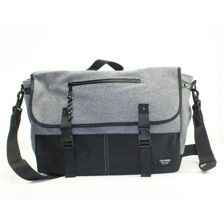 c318ac22a4 Steve Madden Felt Fabric Men's Two Tone Messenger Bag Purse - Walmart.com
