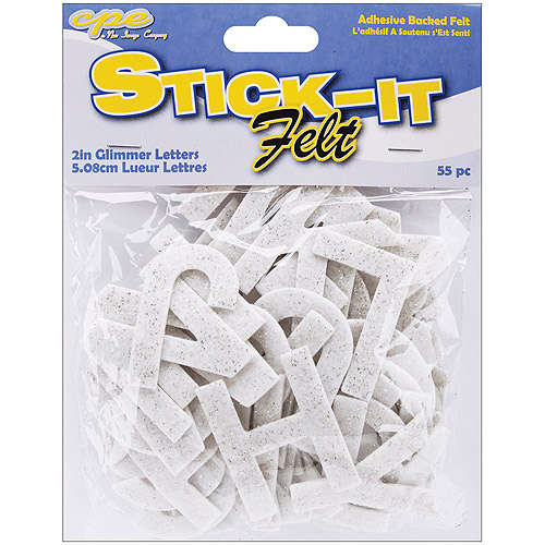 "Stick It Felt 2"" Numbers & Letters, 55/pkg"