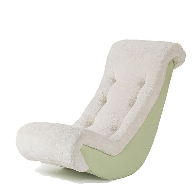 Delicieux Newco International Hannah Baby Lime Micro With Sherpa Banana Rocking Chair