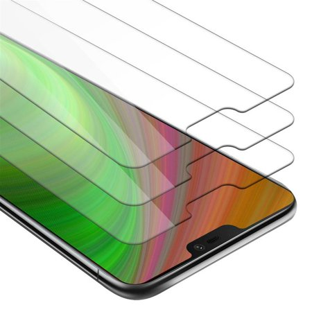Cadorabo Tempered 3er Pack for OnePlus 6 screen protector - Protective film in CRYSTAL CLEAR - Tempered display glass in 9H hardness with 3D touch compatibility (RETAIL PACKAGING) - image 2 de 2
