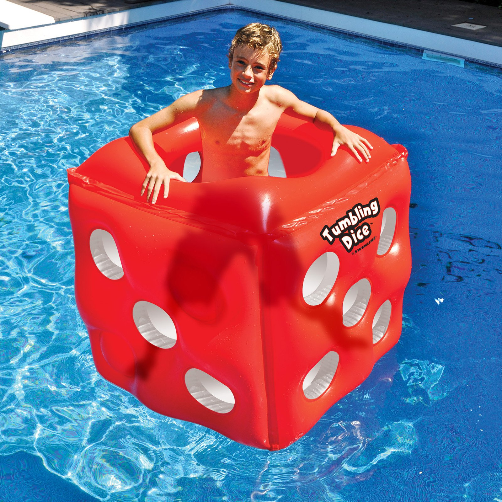 Swimline Tumbling Dice Inflatable Pool Toy for Swimming Pools