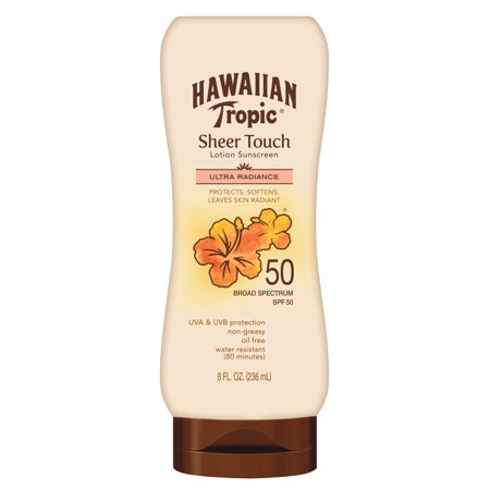 Tropic Vent - Hawaiian Tropic Sheer Touch Ultra Radiance Lotion Sunscreen Broad Spectrum SPF 50 - 8 Ounces