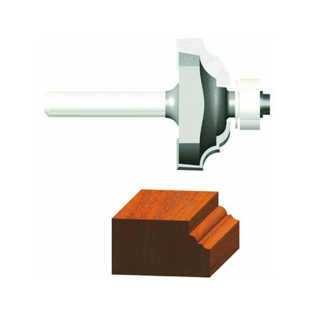 23153 1/8-Inch Radius Carbide Tipped Classical Router Bit, 1/2-Inch Ball Bearing 2-Flute 1/4-Inch Shank, Razor sharp cutting edge diamond honed for smooth cuts By Vermont (Vermont Shark)