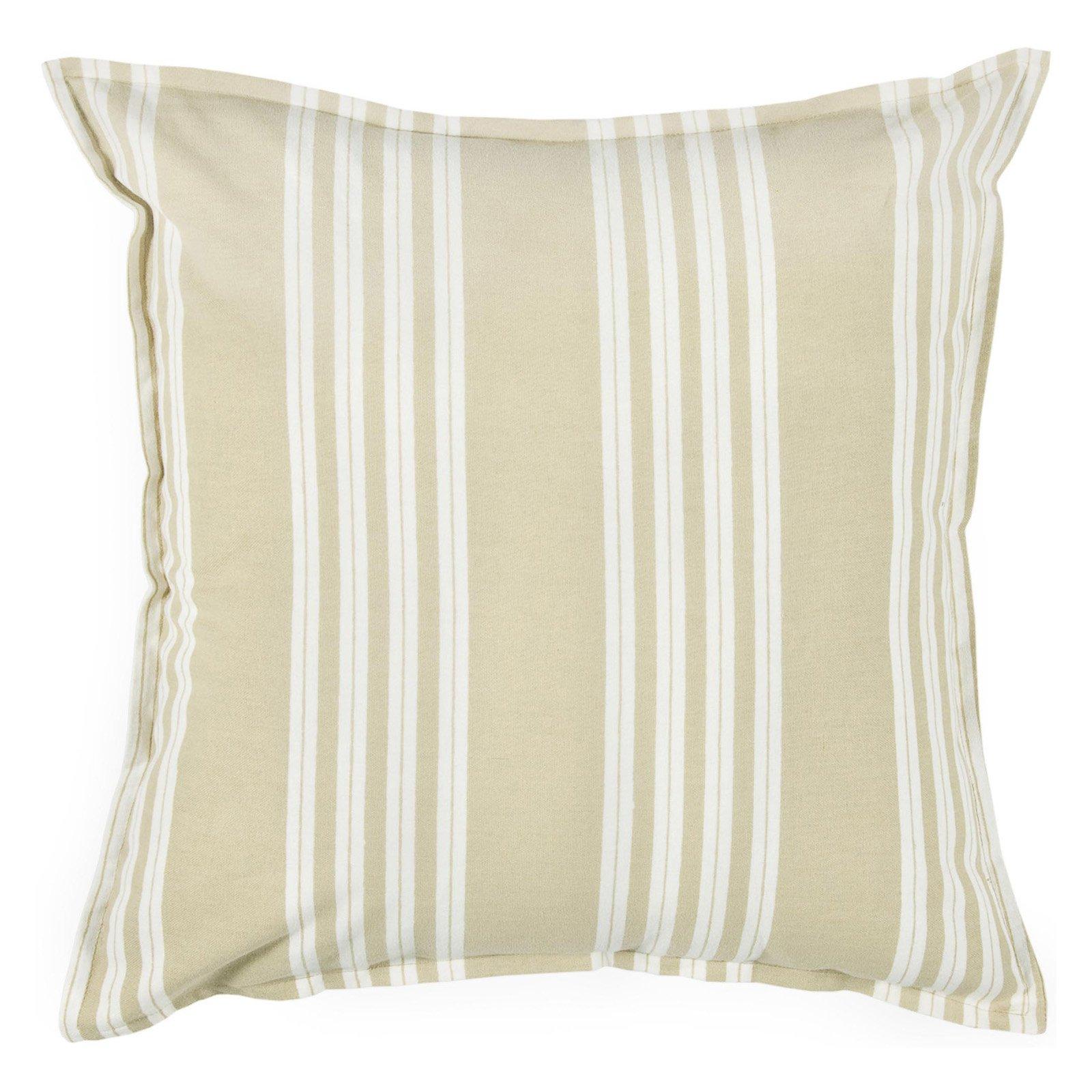 "Rizzy Home stripe18"" x 18""Cotton decorative filled pillow"