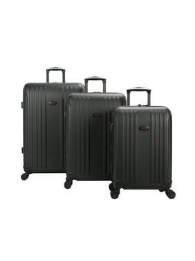 American Flyer Moraga 3-Piece Hardside Spinner Luggage Set in Black