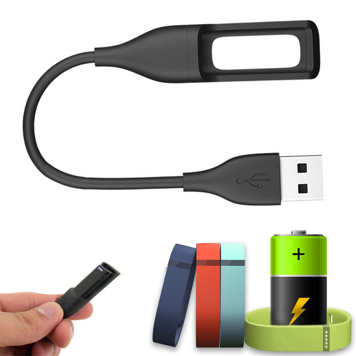 Replacement USB Charging Cable Cord Charger for Fitbit Flex Band Bracelet Wristband