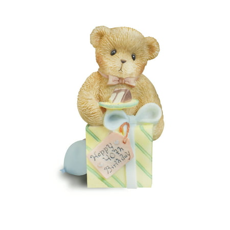 Enesco Cherished Teddies Happy 40th Birthday Figurine