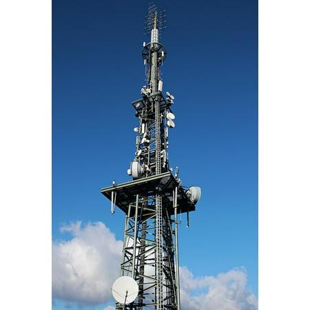 Canvas Print Radio Mast Mast Radio Tower Transmission Tower Stretched  Canvas 10 x 14