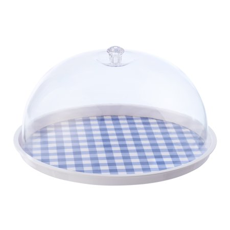 Platter Cover - Mainstays Blue Covered Tray