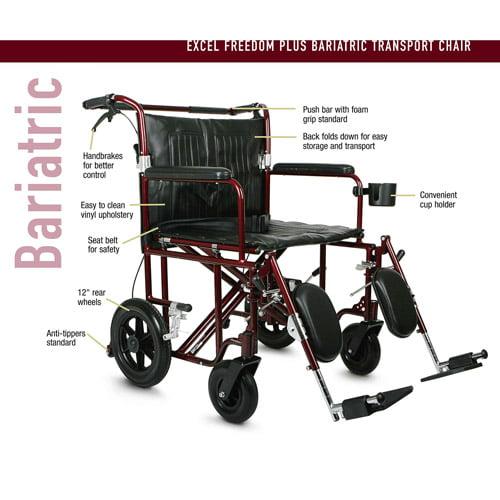 Medline Bariatric Transport Chair