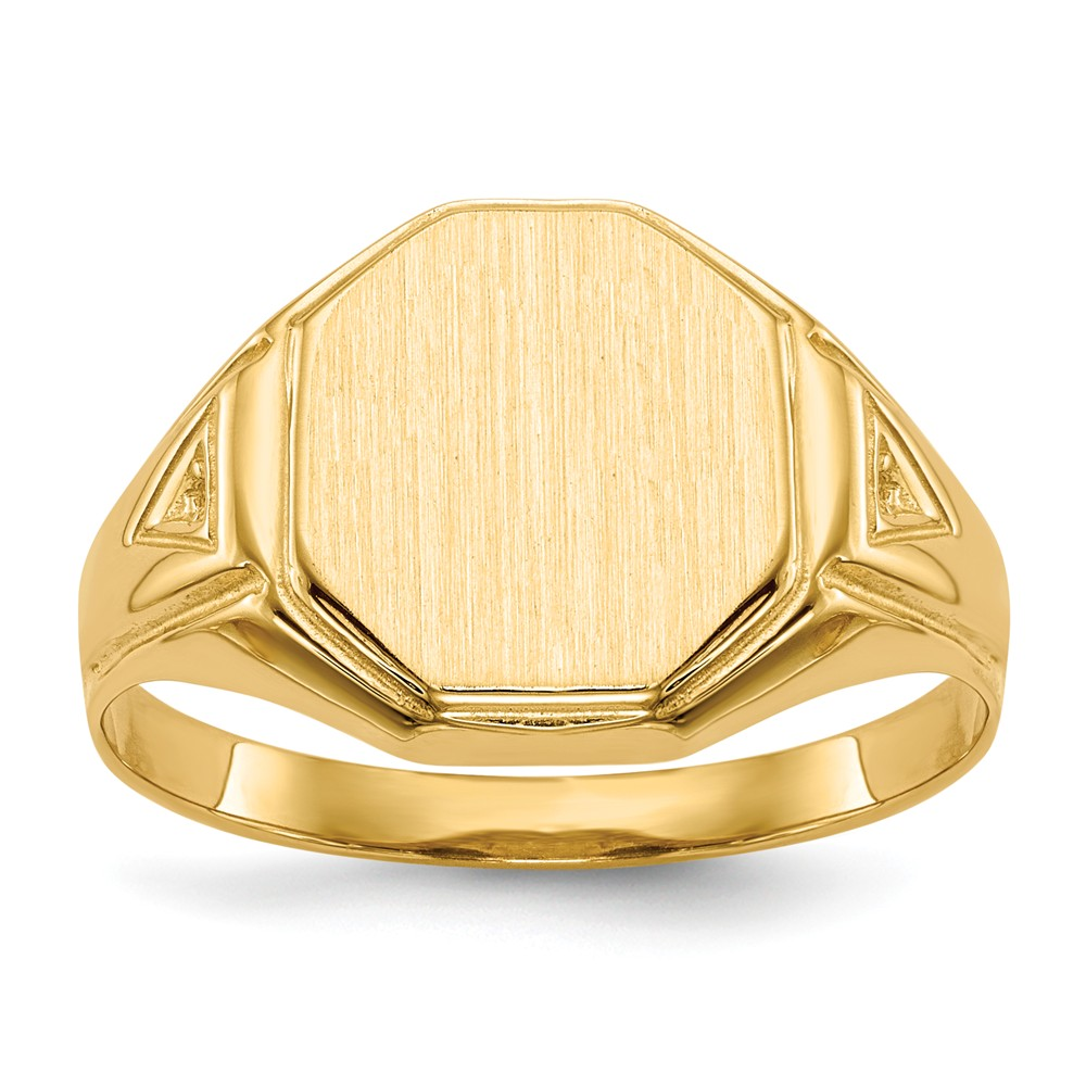 ICE CARATS 14kt Yellow Gold Signet Band Ring Size 9.50 Man Fine Jewelry Dad Mens Gift Set by IceCarats Designer Jewelry Gift USA