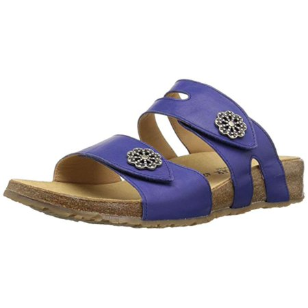 Haflinger Womens Pansy Fabric Open Toe Casual Slide Sandals, Lilac, Size 5.5