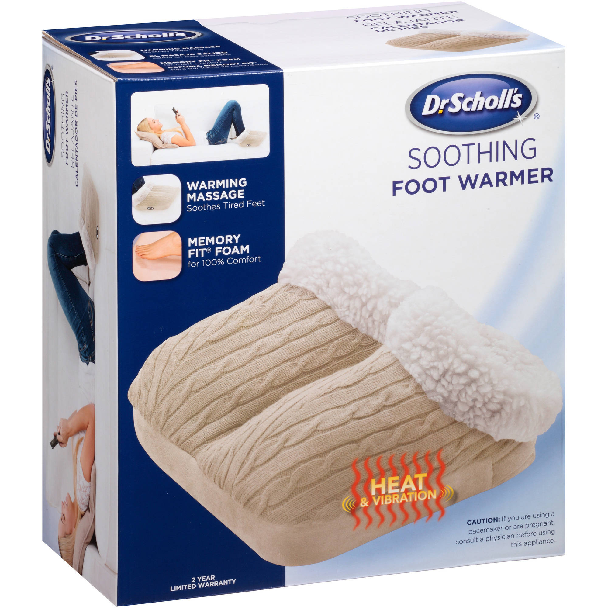 Dr. Scholl's Soothing Foot Warmer, Beige
