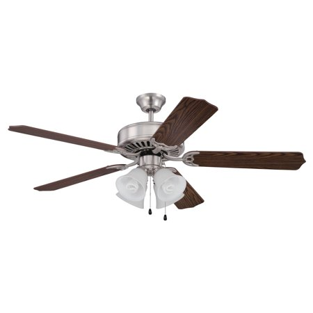 Craftmade Pro Builder 52 in. Indoor Ceiling Fan with Pointed Blades and 4 Lights ()