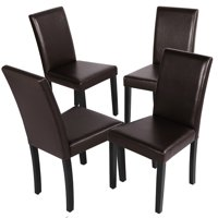 4pcs Dining Room Chairs Leather Dining Chair For Home And Restaurants Brown