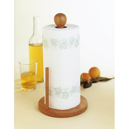 Lipper Bamboo Standing Paper Towel Holder ()