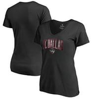 FC Dallas Fanatics Branded Women's Arch Smoke V-Neck T-Shirt - Black