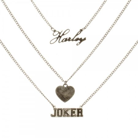 Necklace suicide squad harley quinn and joker toys new for Harley quinn and joker jewelry
