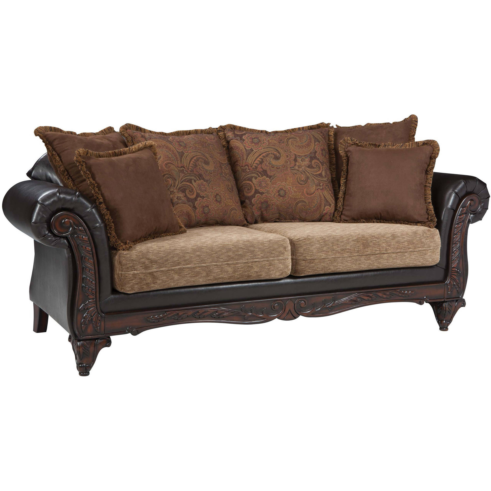 Coaster Company Garroway Sofa, Russet and Chocolate