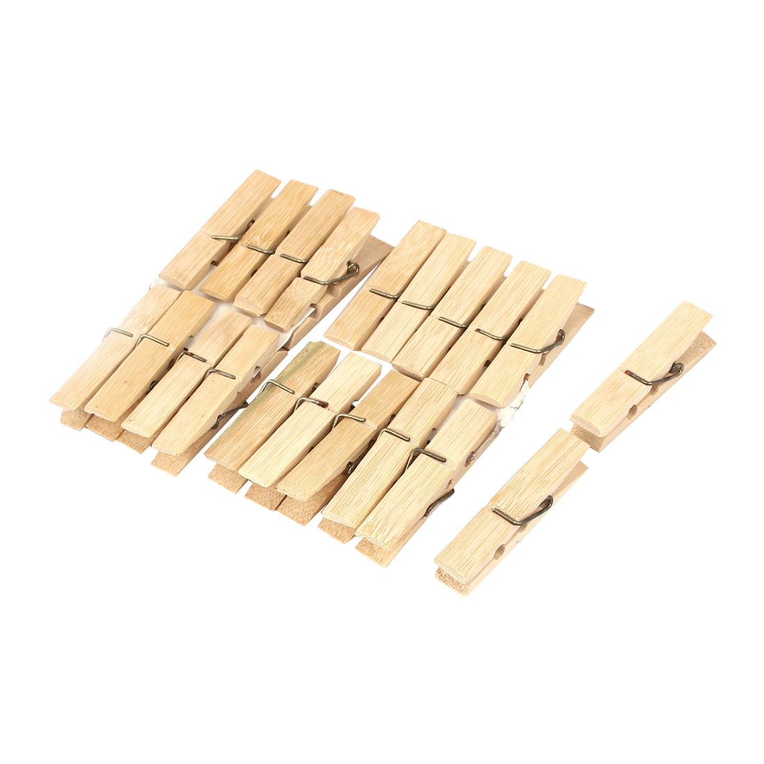 Unique Bargains Wood Clothespins Wooden Laundry Clothes Pins Large Spring 20pcs for Home Essential