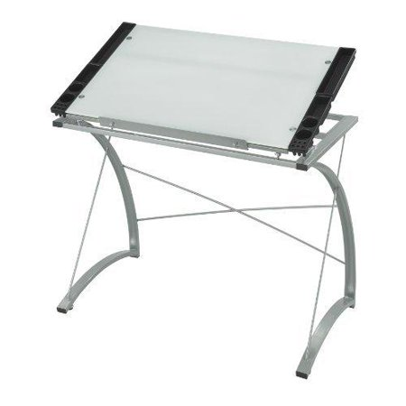 Safco Xpressions Glass Top Drafting Table - Rectangle - 31.50