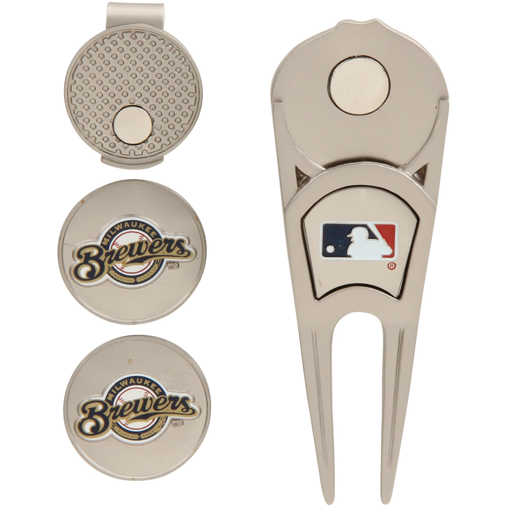 Milwaukee Brewers WinCraft Ball Marker, Hat Clip & Divot Repair Tool Set - No Size