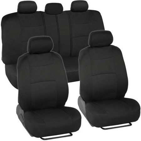Subaru Impreza Car Seat Covers (BDK PolyCloth Car Seat Covers, 2-Tone Split Bench EasyWrap Full Set )
