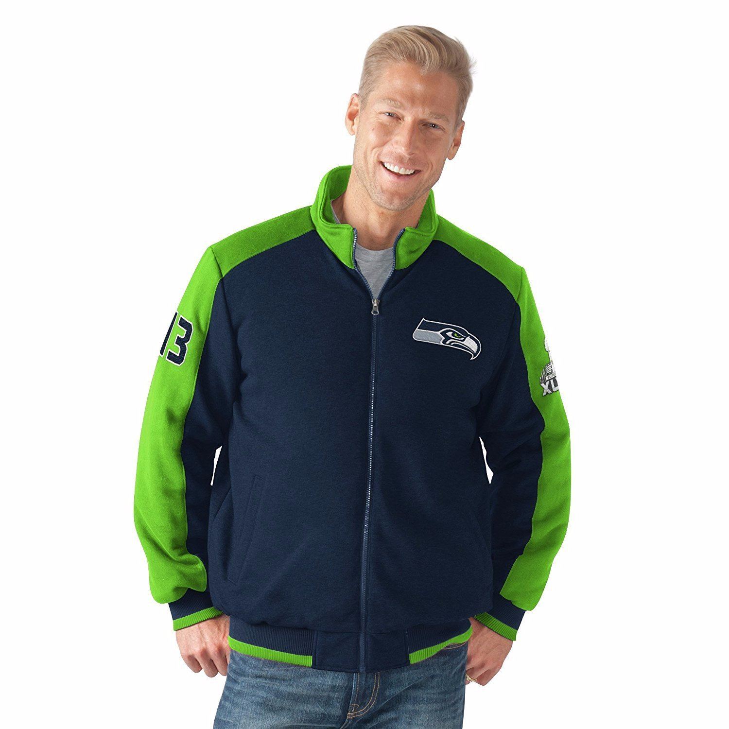 "Seattle Seahawks ""Classic"" Men's Super Bowl Commemorative Varsity Jacket by G-III Sports"