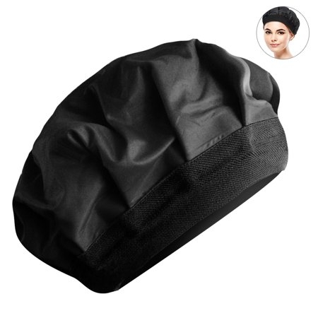 Deep Conditioning Heat Cap - Cordless 100% Safe Microwave Hot Cap for Natural Curly Textured Hair Care, Drying, Styling, Curling, Black